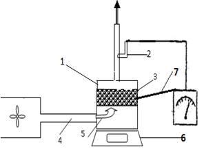 Схема сушки силикагеля
