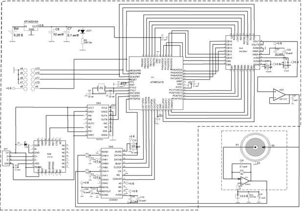 Рисунок 2. Принципиальная электрическая схема измерителя ВАХ БАТ.