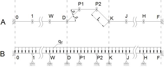 Расчетная схема надземного