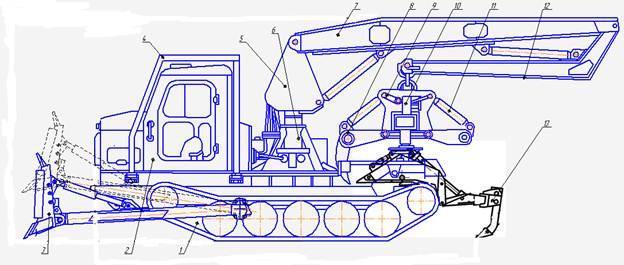 Машина ЛП-52 Для корчевки пней